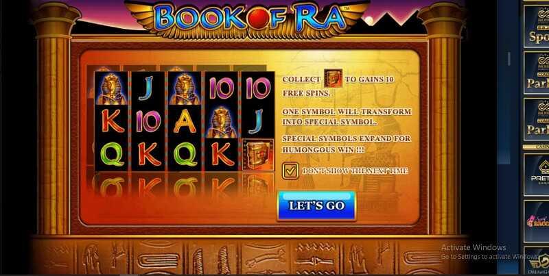 หน้าปกเกม book of ra