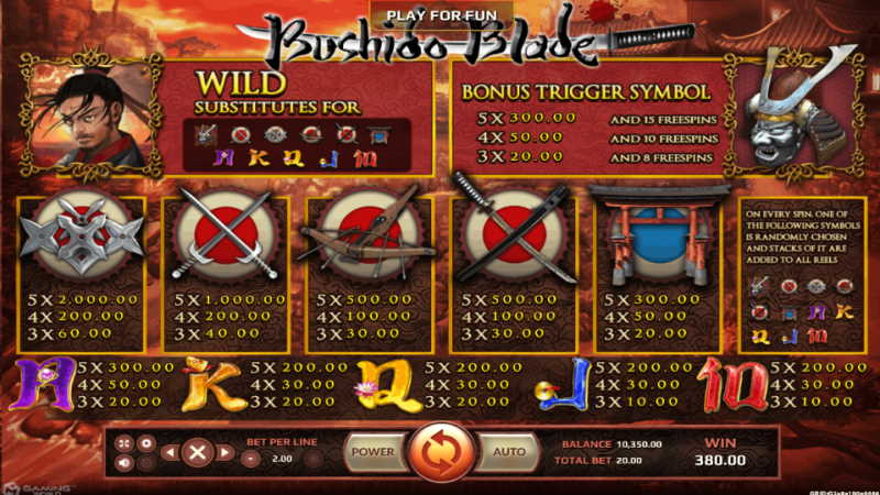 bushido blade-joker123th