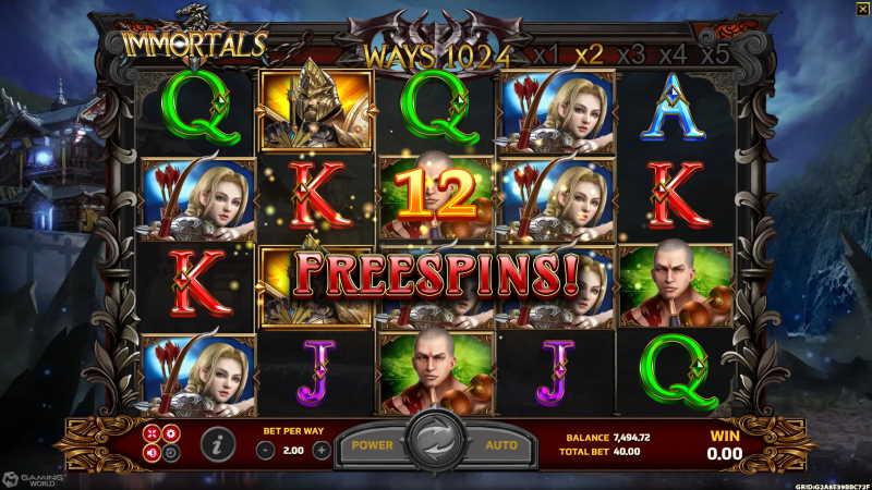 immortals slot-joker123th